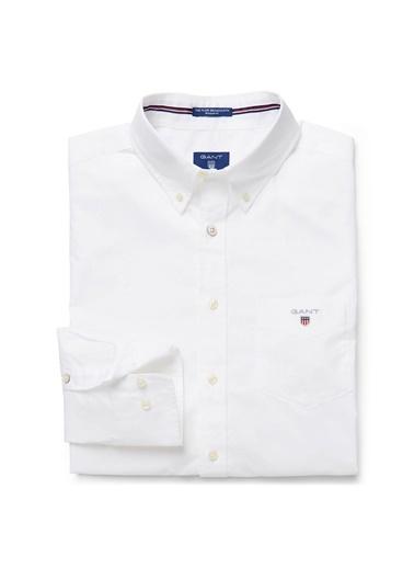 Gant Düz Regular Gömlek Beyaz